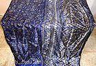 Navy Blue Khaki Paper Silk Vintage Sari Saree Fabric Pattern Great France #1F21W - #1F21W, #blue, #great, #pattern, fabric, FRANCE, Khaki, Navy, paper, Saree, Sari, Silk, vintage