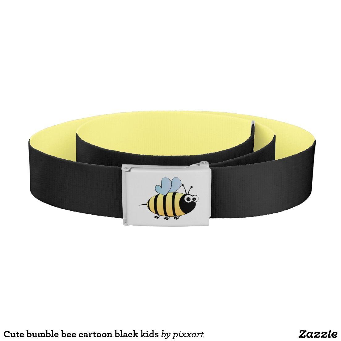 Cute bumble bee cartoon kids belt | Zazzle.com | Girls ...