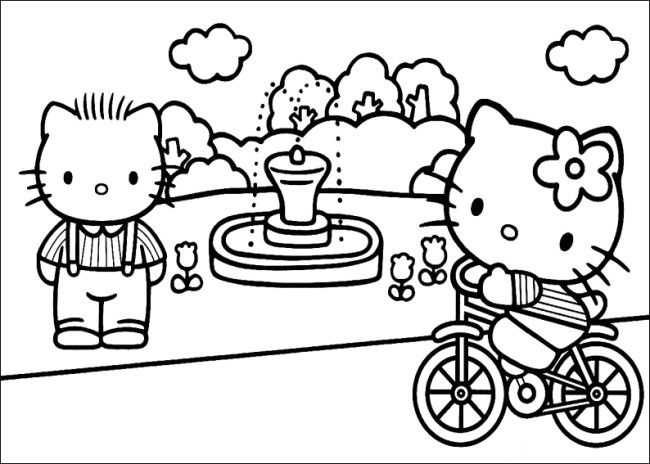 Hello Kitty Play On Garden Coloring Pages Find Coloring Hello Kitty Coloring Hello Kitty Colouring Pages Kitty Coloring