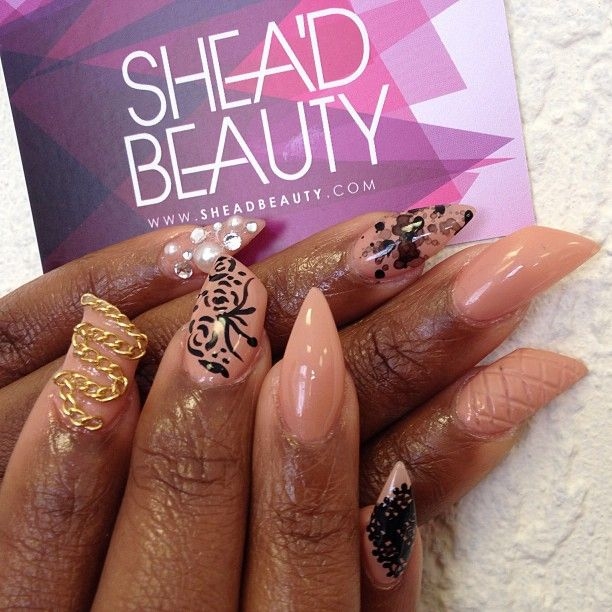 Nails did by Shea'D Beauty girl Charlly get your...