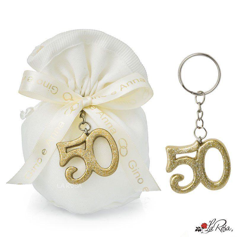 Bomboniere Nozze D Oro Portachiavi Numero 50 Colore Oro Glitterato Con Brillantini 50esimo Anniversario Di Matrimonio Bomboniere Anniversario Di Matrimonio