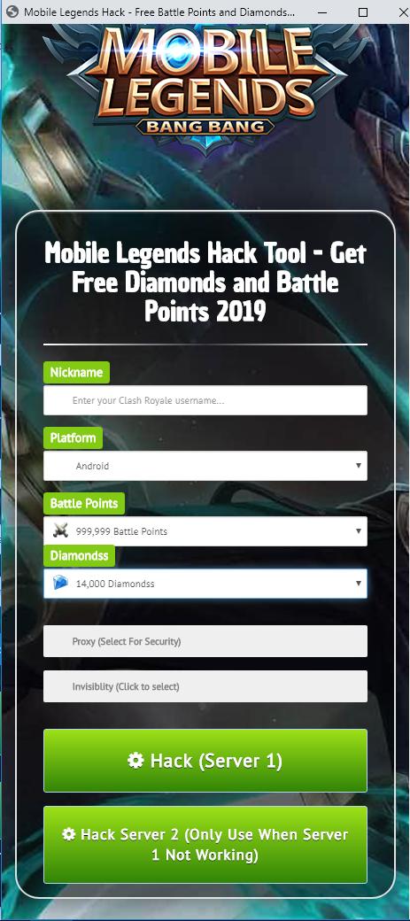 Mobile Legends Hack in 2020 Tool hacks, Ios games