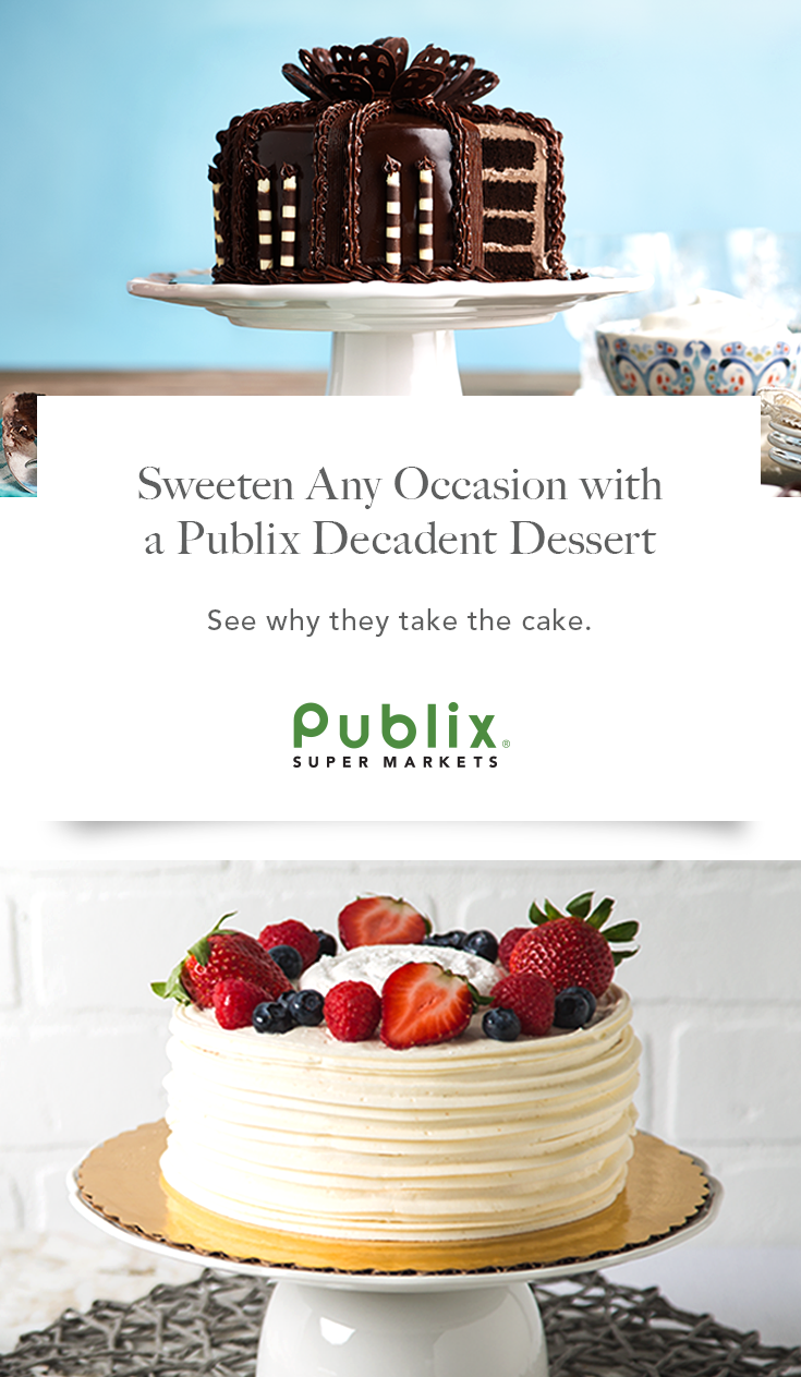 Our Publix Bakery has over twenty Decadent Dessert cakes perfect for ...