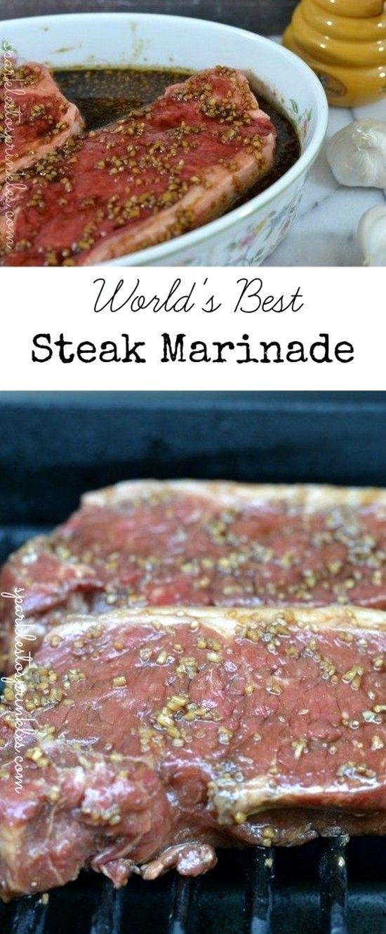 Worlds Best Steak Marinade   Easy Steak Recipes Ideas #grilledsteakmarinades