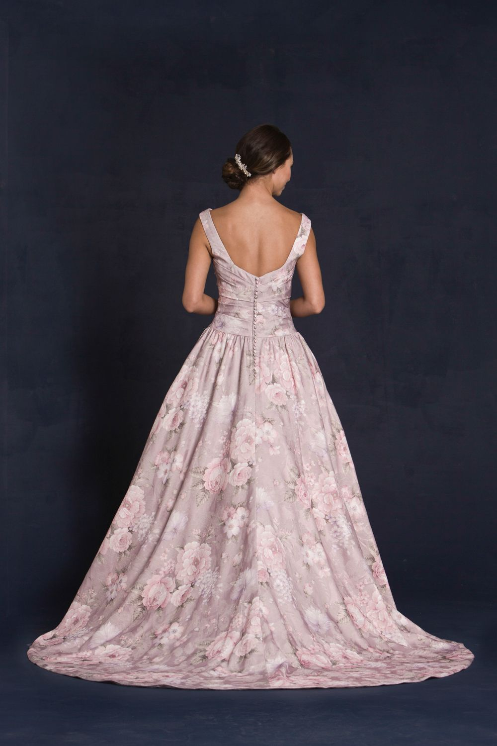 Style * GILMORE (S.E) * » Special Edition Wedding Dresses » 2015 Collection » by Lis Simon » Available Colours : Blush Floral Embroidered Jacquard (back)