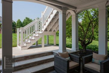 Best Two Story Double Porch With Outdoor Fireplace Travertine 640 x 480