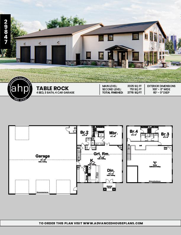 Craftsman Barndominium Plan Table Rock Barn House Plans Metal Building House Plans Metal House Plans