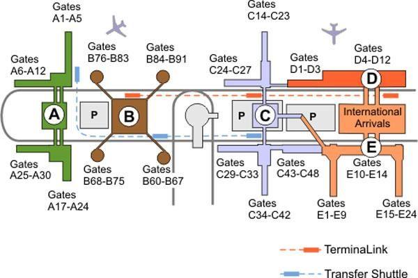 IAH Terminal map | Starbucks Adventure | Starbucks, International ...