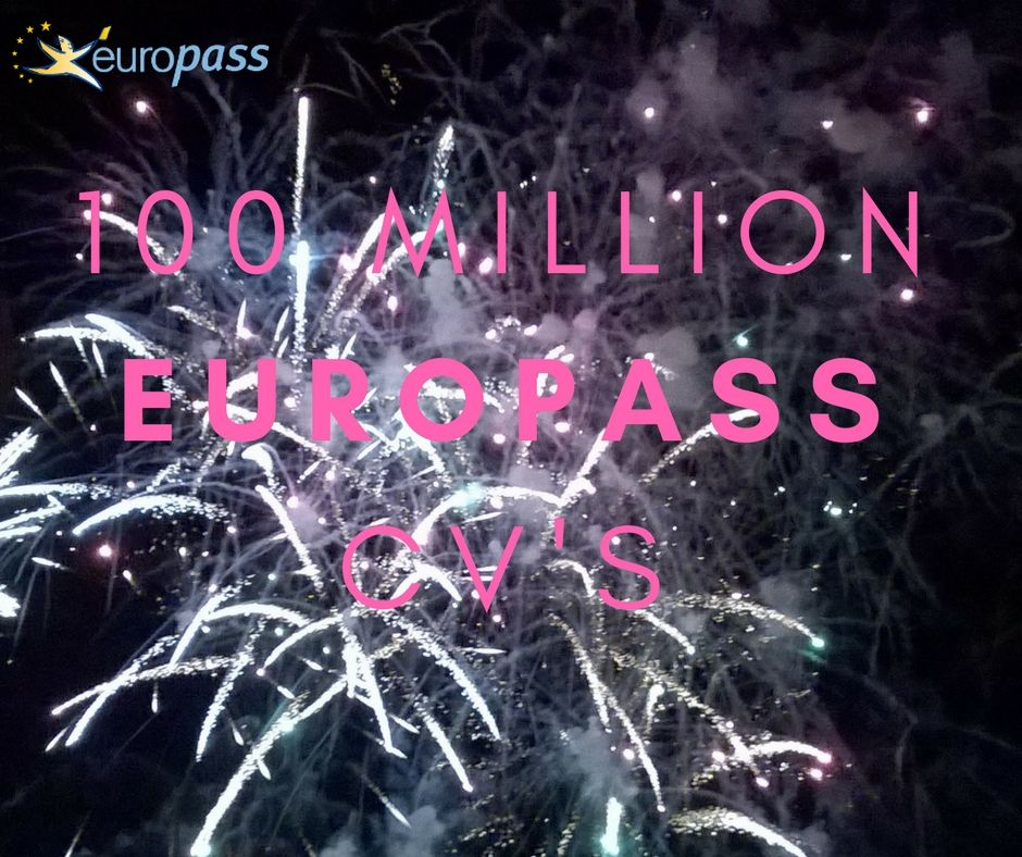 Between February 2005 and July 2017, 100 million Europass