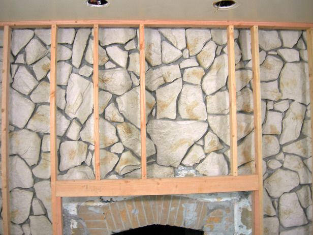 How To Build A Standard Wall Over A Stone Wall Stone Fireplace