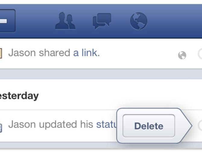 How to delete Facebook activity using iPhone, Android app