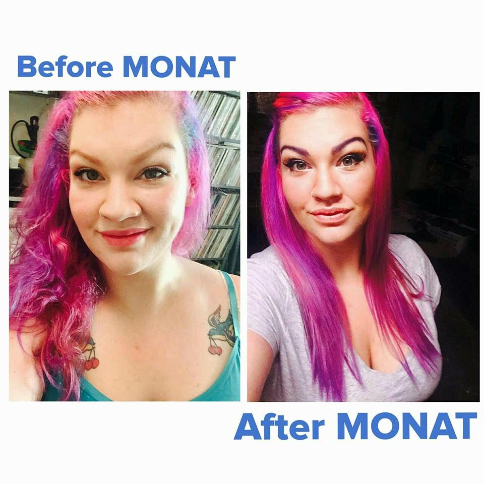 Use This Oil Before Coloring Your Hair: AHH-mazing Before And After Using Monat's Balance Line
