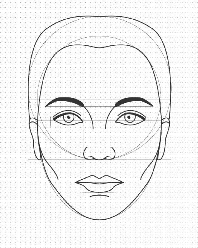 Descarga Plantilla Para Dibujar Caras Laura Paez Dibujos De Caras Plantillas Para Dibujar Dibujo Paso A Paso