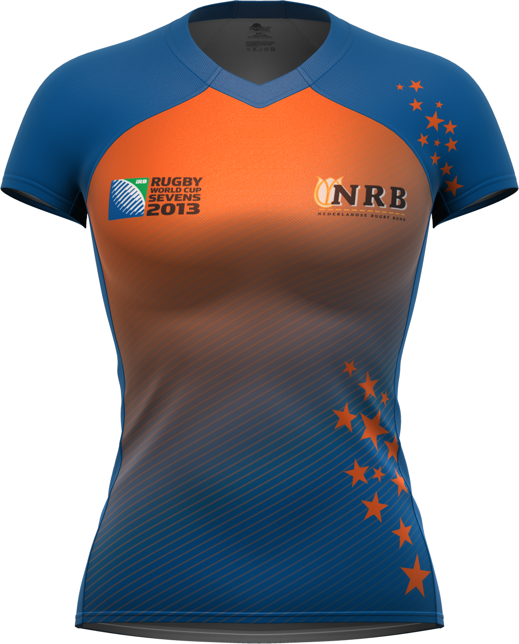 66eaaaac9 Dutch international rugby jersey - Part of Holland women s away rugby kit  by Samurai Sportwear for the last rugby sevens world cup.