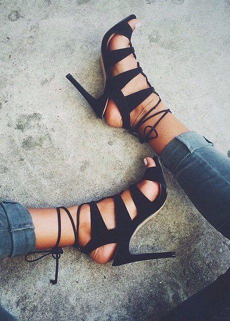 7fdef671751 strappy heels  stevemadden Black Strappy Heels