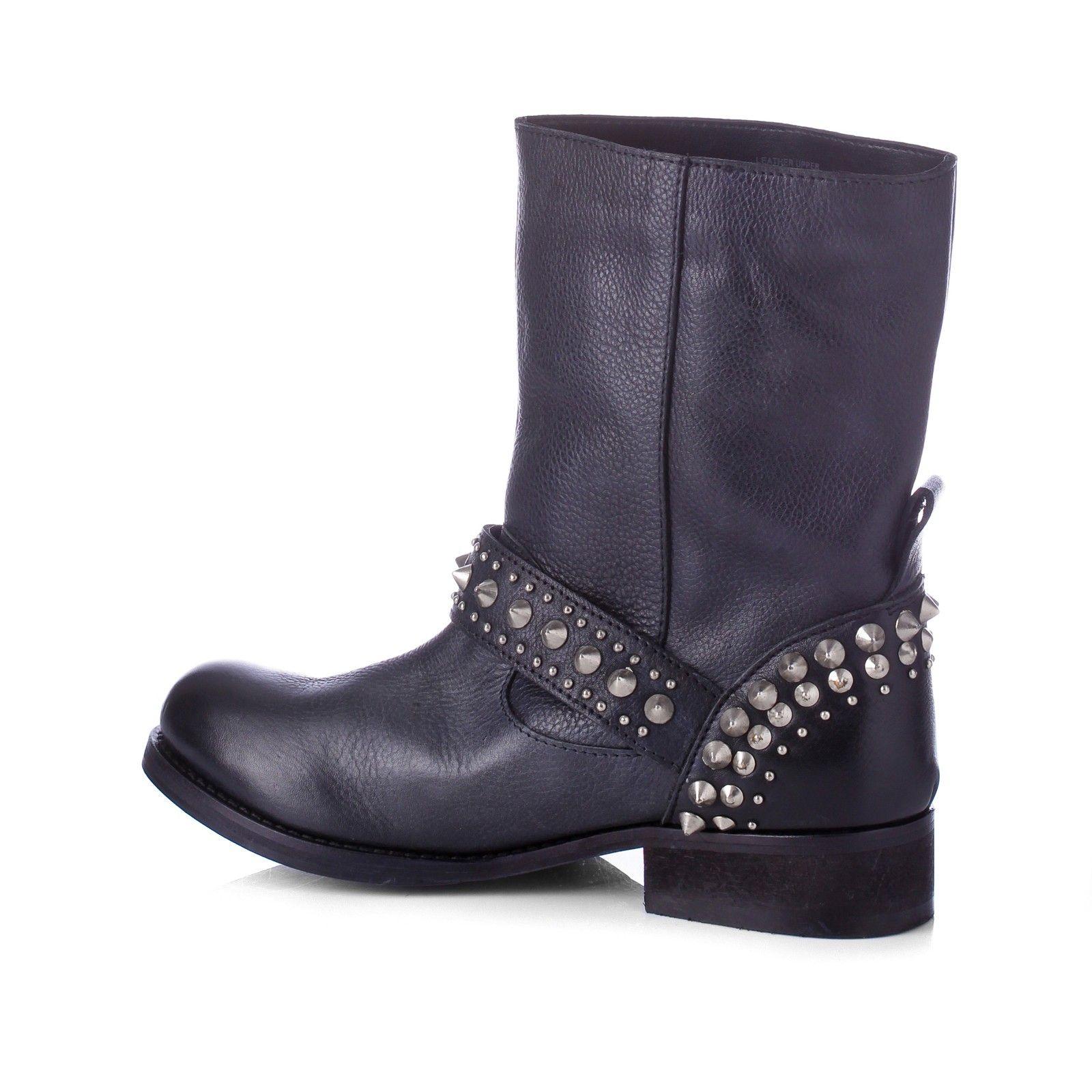 3a18b0fb2f89 Black Leather Tammy Embellished Boots 3cm Heel - Carvela Kurt Geiger -  Private sales