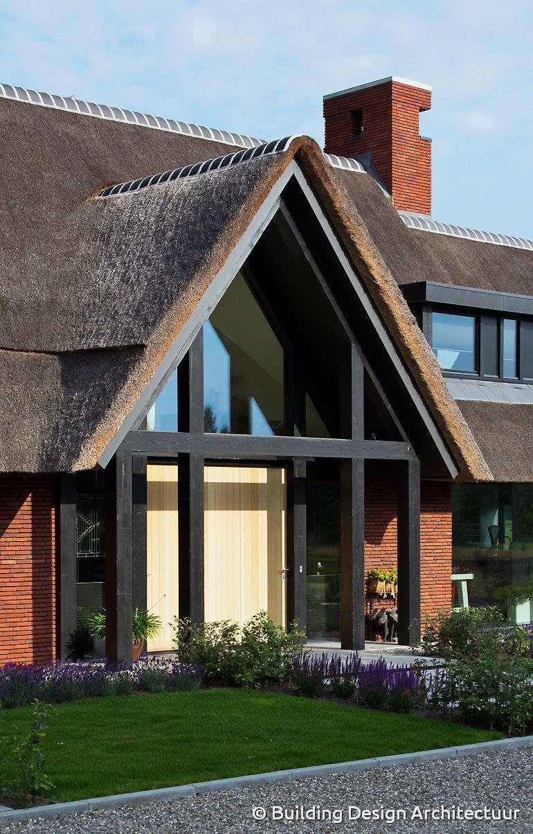 Detail modern landhuis building design architectuur for Modern landhuis