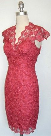 Tracy Reese Hot Pink Lace Dress Ala Michelle People Cover