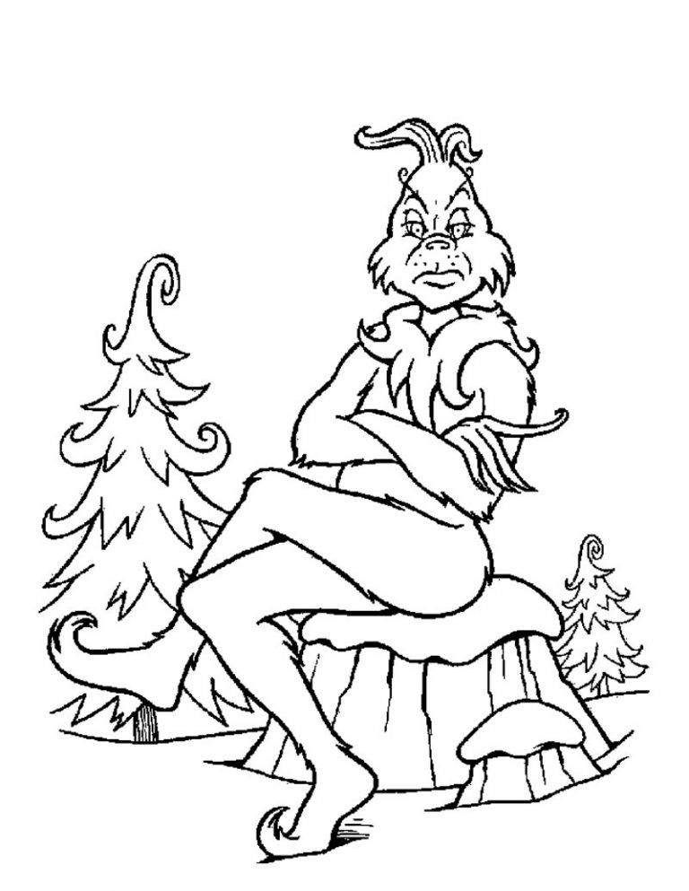 Grinch Coloring Pages Free Printable Grinch Grinch Coloring Pages Dr Seuss Coloring Pages Christmas Coloring Pages