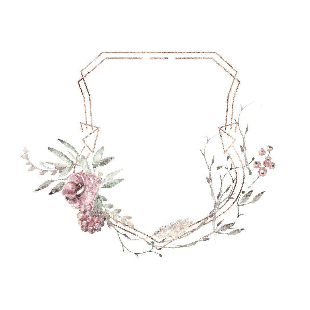 Sciana Framed Wallpaper Floral Poster Flower Frame