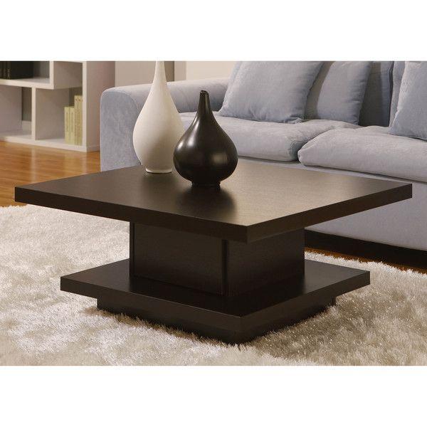 Furniture of America Wakiaka Unique Pagoda Coffee Table (Light Oak