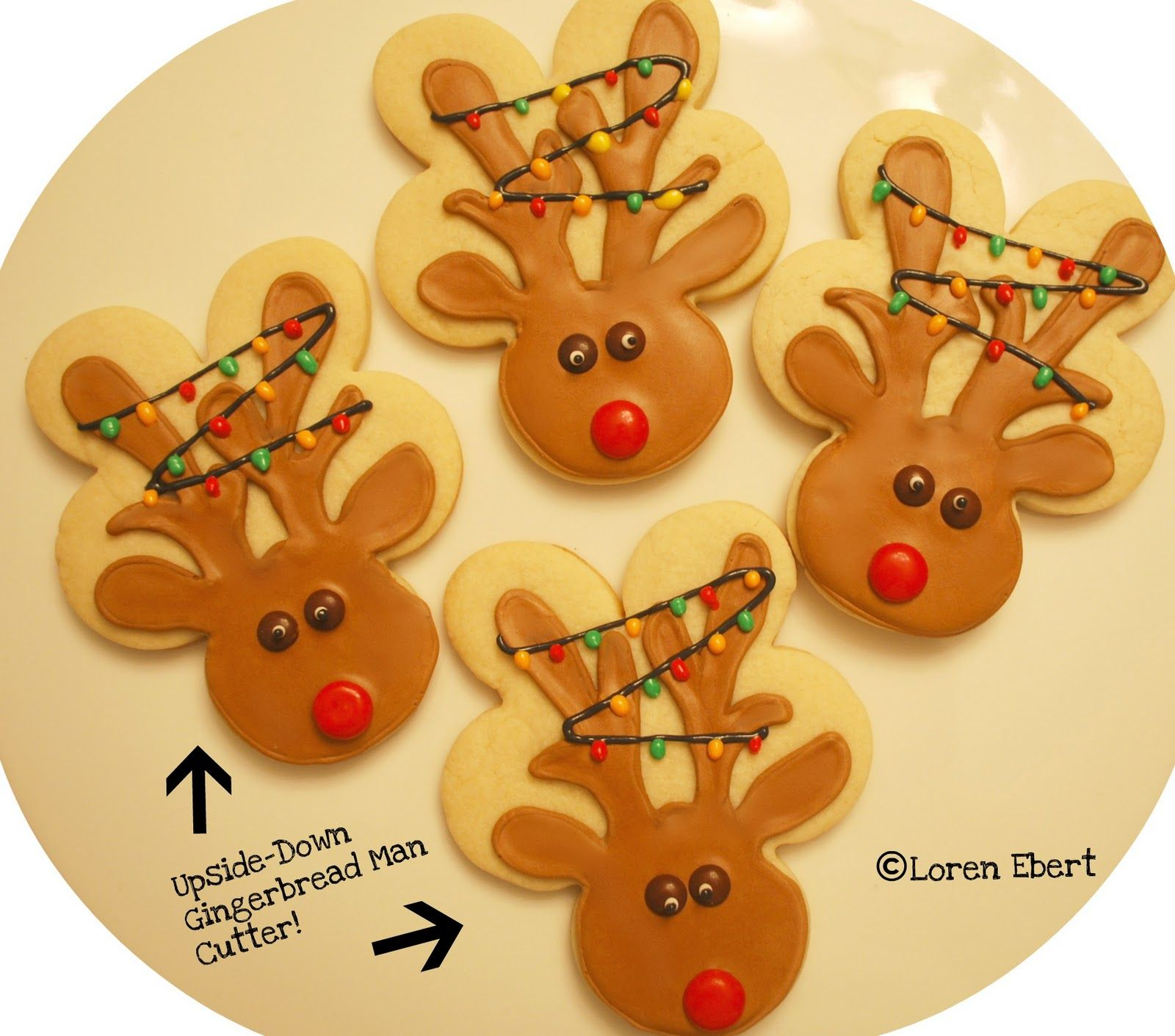 Reindeer Cookies by Loren Ebert  www.thebakingsheet.blogspot.com  I'm on Facebook:  The Baking Sheet
