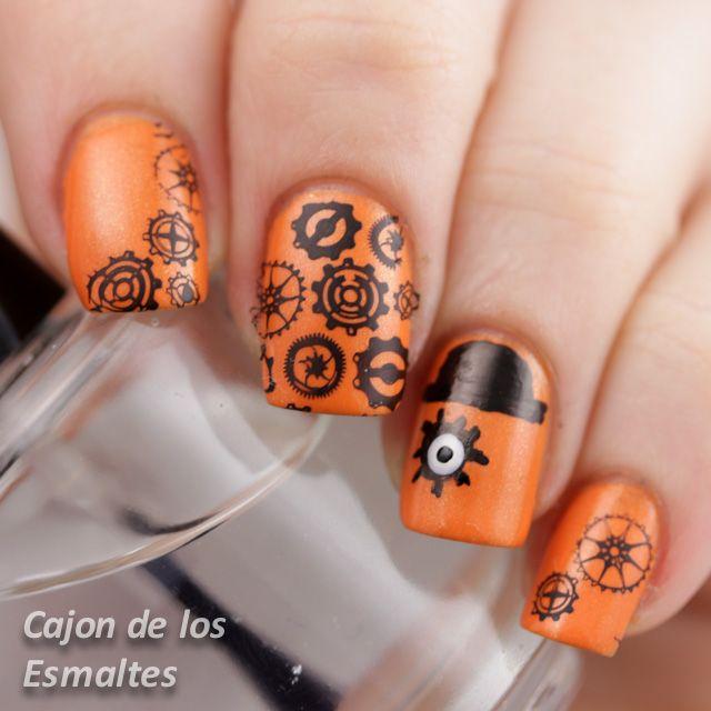 Reto: inspirada en un libro - La naranja mecánica | Beauty nails ...