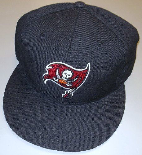 f79eb1404 Tampa BAY Buccaneers Fitted Flat Bill Hat By Reebok Size 7 5 8 ...