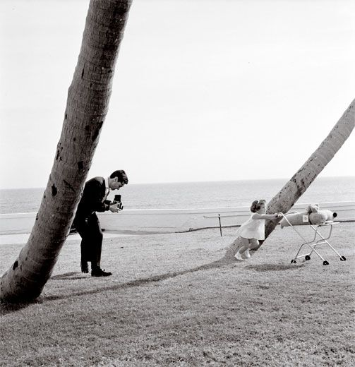 Avedon photographing Caroline Kennedy with his Rolleiflex