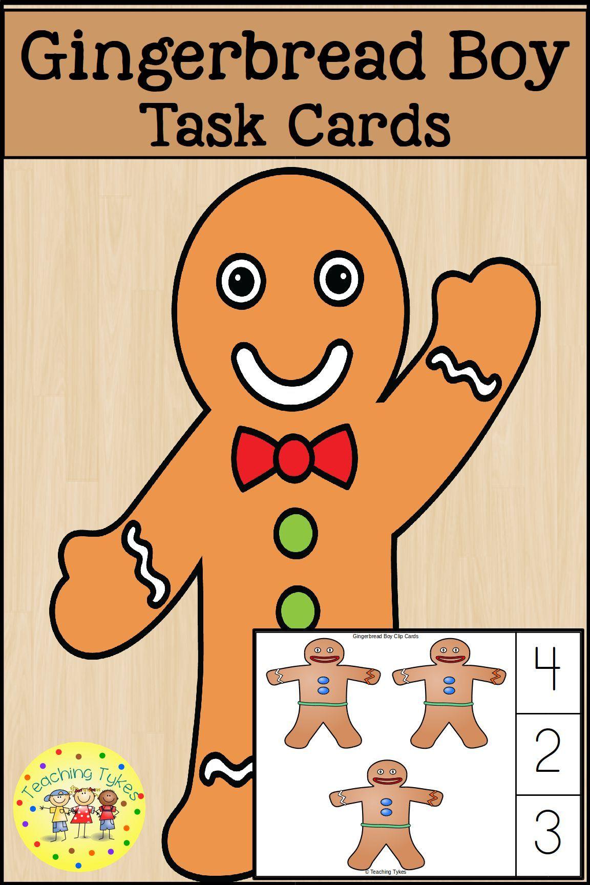 Gingerbread Men And Turkeys Task Cards