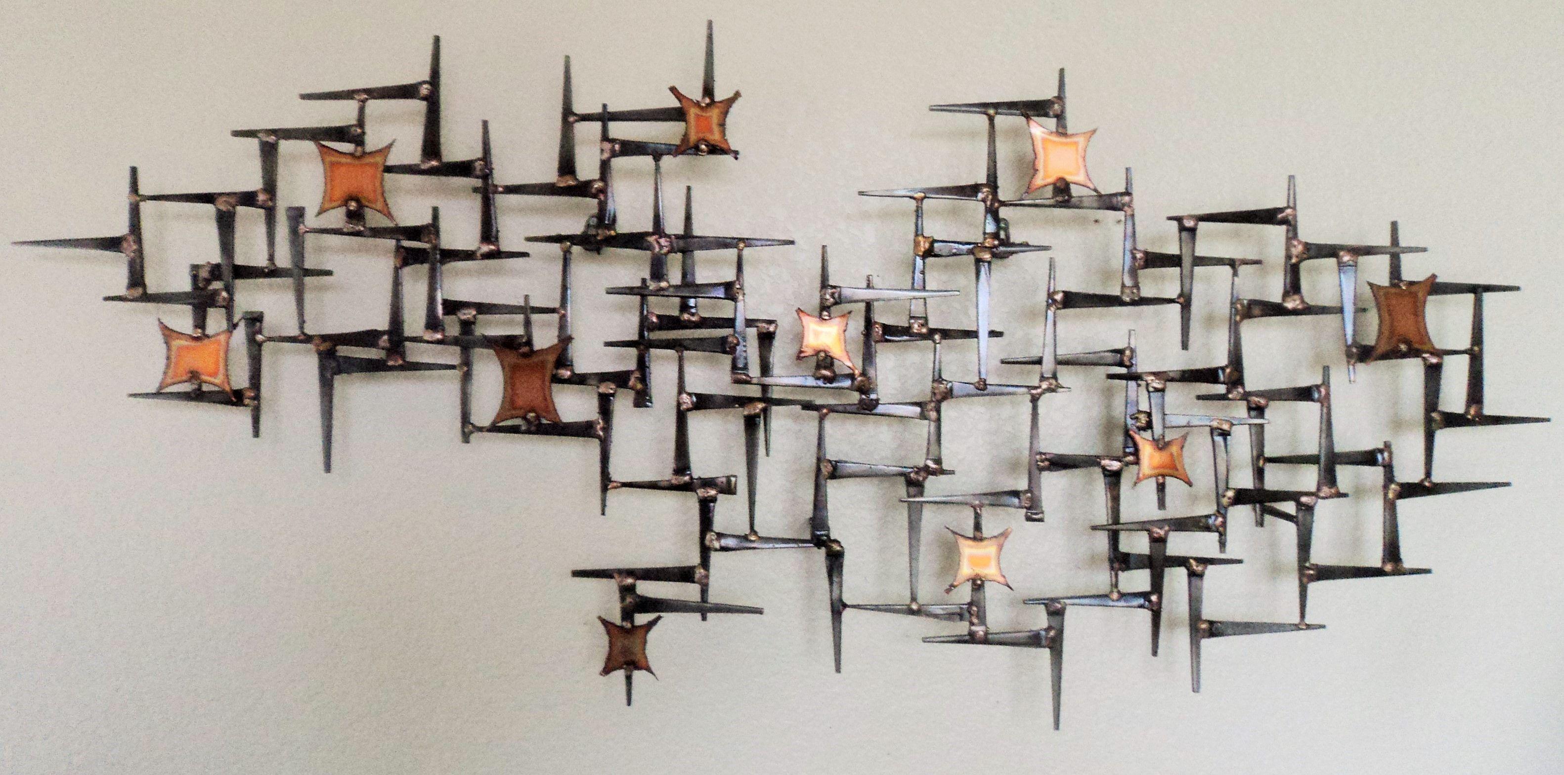MID CENTURY MODERN WALL SCULPTURE CREATED BY ARTIST COREY ELLIS