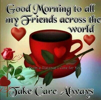Good morning to everyone, have a nice day, take care