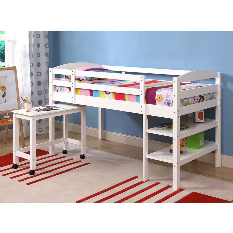 Best Have To Have It Sunrise Twin Loft Bed With Desk White 400 x 300