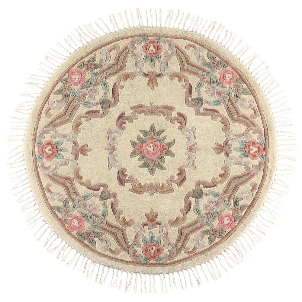 Imperial Ivory 5 Ft. X 5 Ft. Round Area Rug