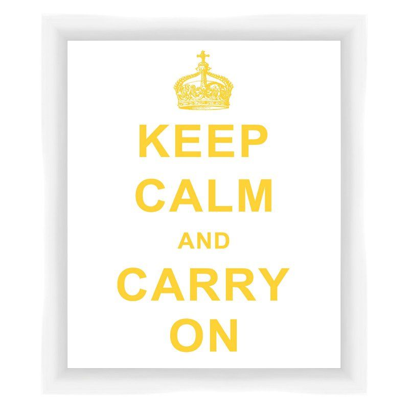 PTM Images Keep Calm and Carry On Framed Wall Art Yellow - 1-28606 ...