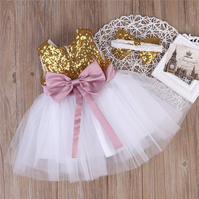 5ed2fa213 Sequin Baby Girl Tutu Dress   Headband