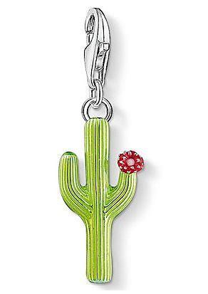 thomas sabo charm einh nger gr ner kaktus mit bl te. Black Bedroom Furniture Sets. Home Design Ideas