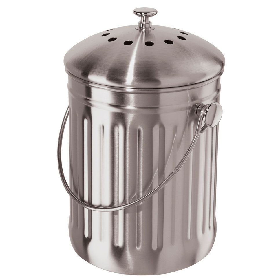 Stainless Steel Countertop Compost Pail Stainless Steel Countertops Stainless Steel Counters Composter