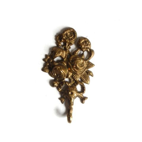 Vintage Brass Floral Wall Hook by aestheticallyantique on Etsy, $30.00