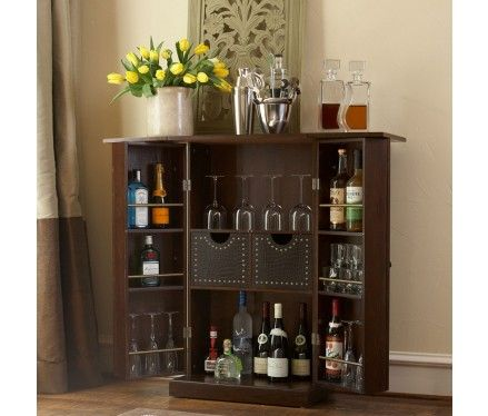 Wonderful Fold Away Bar Cabinet...closes Away All Of Your Beverages. For