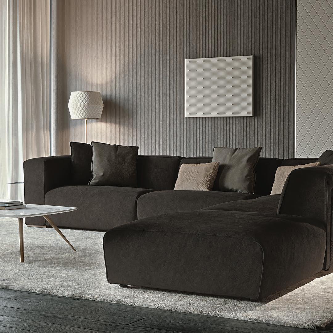 Rugiano Freud Smart And Comfortable Rugiano Interiordesign Madetofeelathome Homelu Contemporary Designers Furniture Furniture Design Luxury Italian Furniture Sectional Sofa