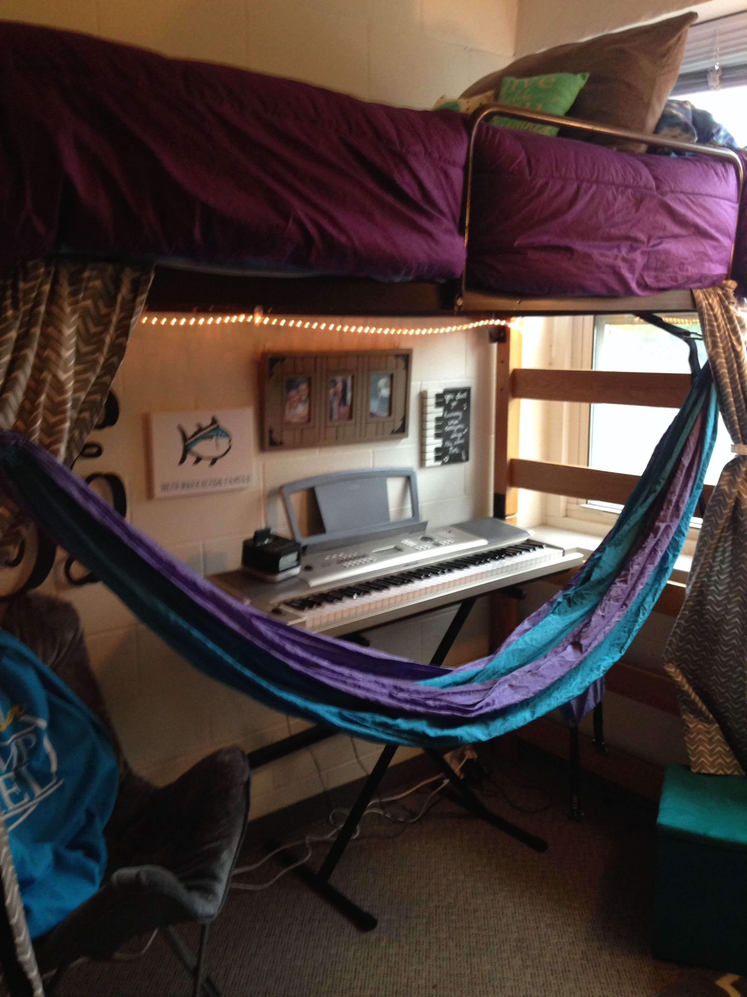 My College Dorm Room Dorm Room Decor With Hammock And