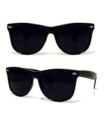 BLACK-WAYFARER-SUNGLASSES-UV400-UNISEX-RETRO-80S-geek-shades-aviator-classic 6d21afefea