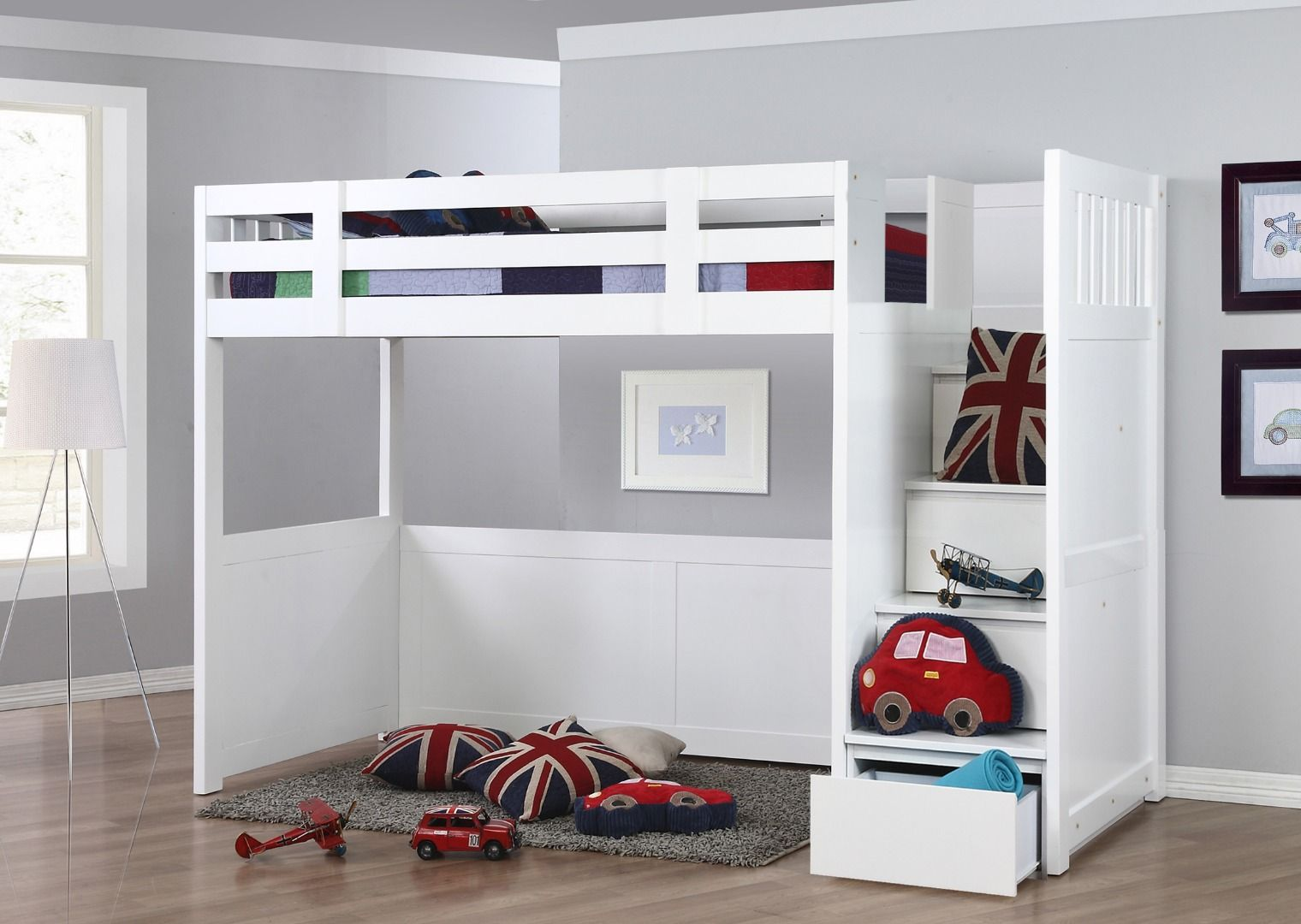 Neutron High Sleeper With Stair Storage Alberts Room In
