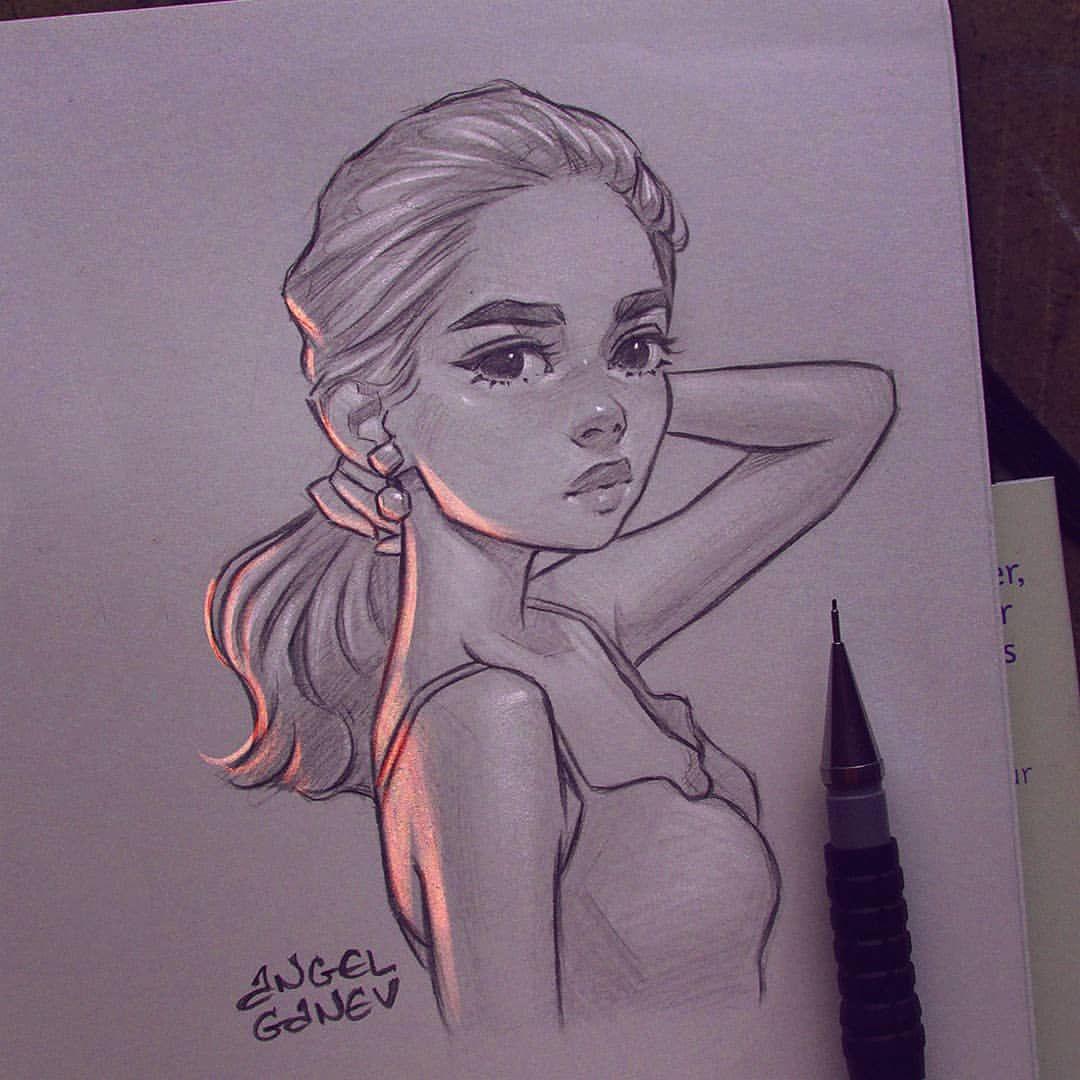 29 9 K Likerklikk 495 Kommentarer Angel Ganev Angelganev Pa Instagram Irritated Traditional Sketch With Cool Art Drawings Poppy Drawing Drawings