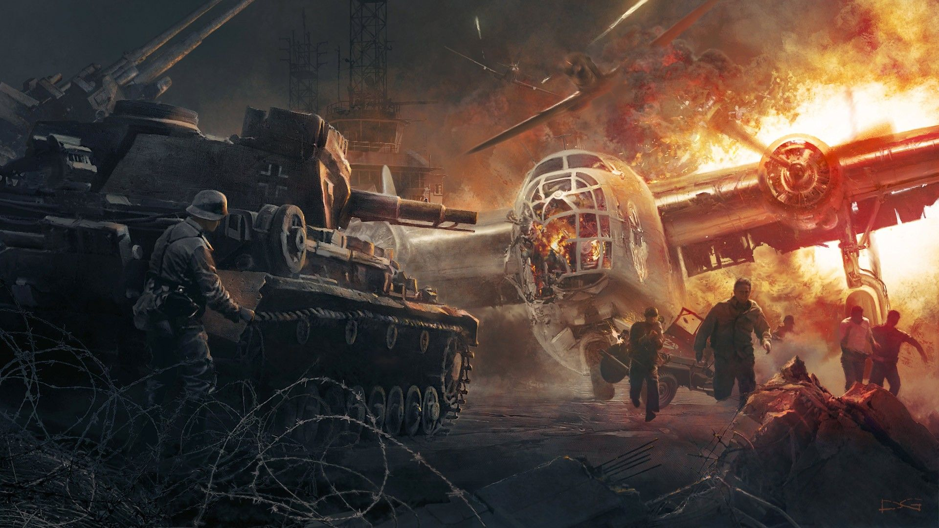 World War 2 Tank Wallpaper For Android On Wallpaper 1080p Hd Military Poster Tank Wallpaper War Artwork