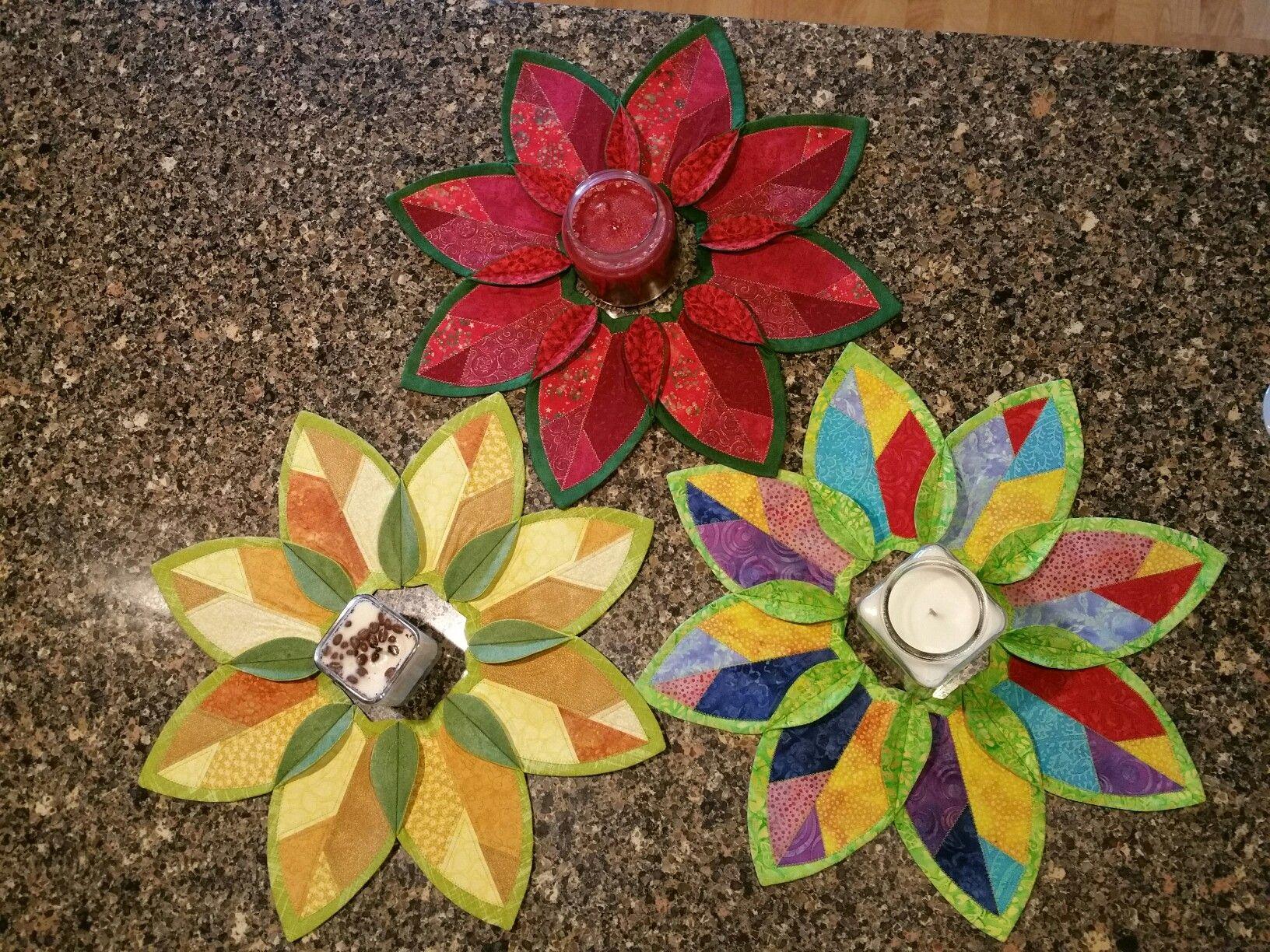 Fold n stitch leaf topper class