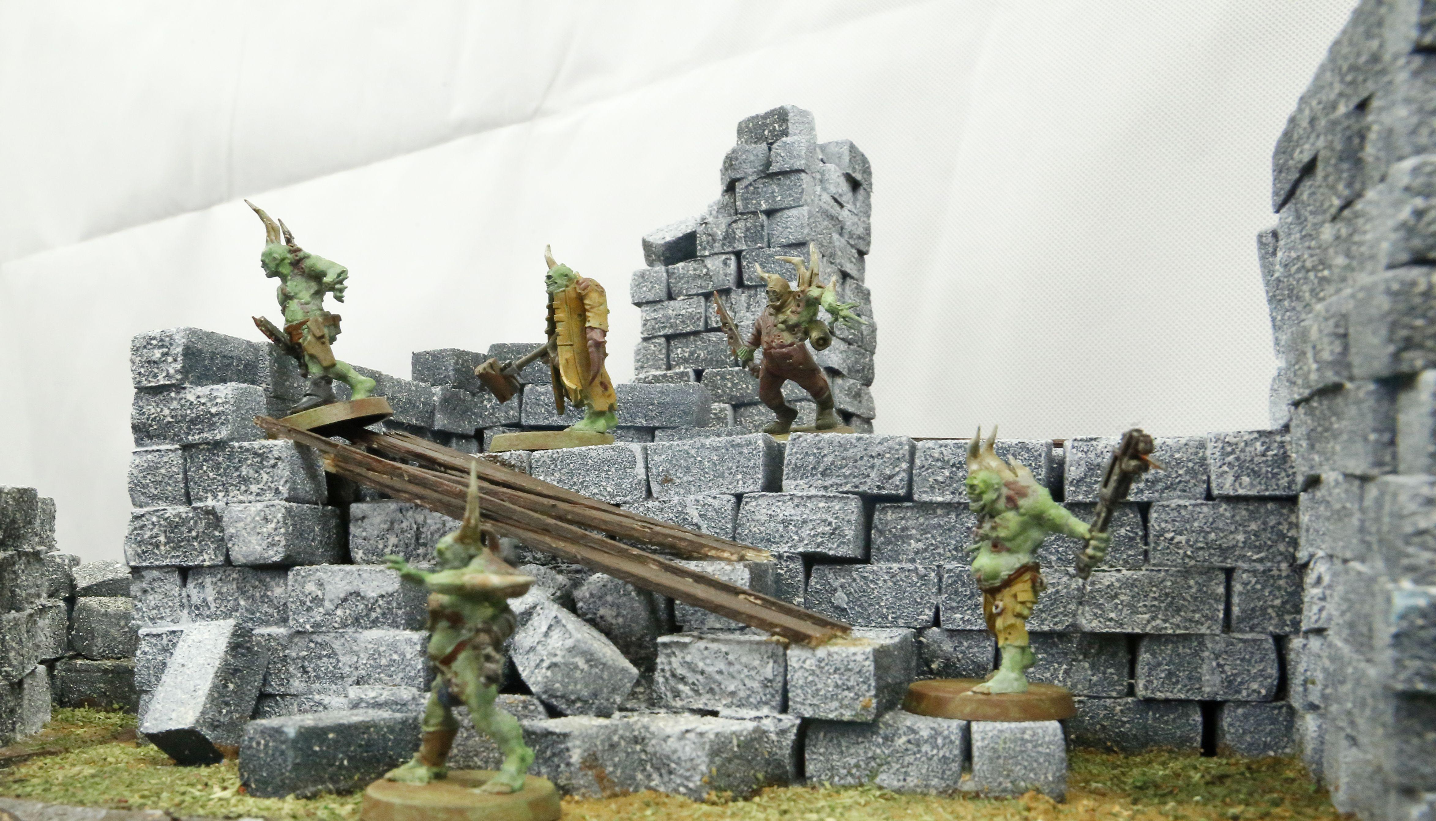 DIY hobby kit wargaming terrain  Ruins and buildings