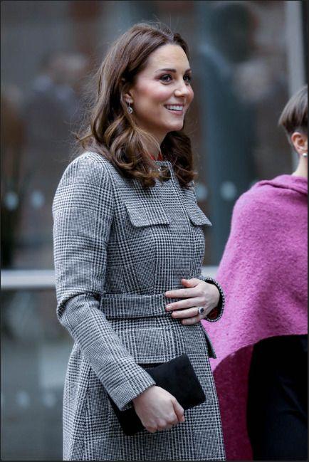 Catherine, Duchess Of Cambridge Speaks To School Children