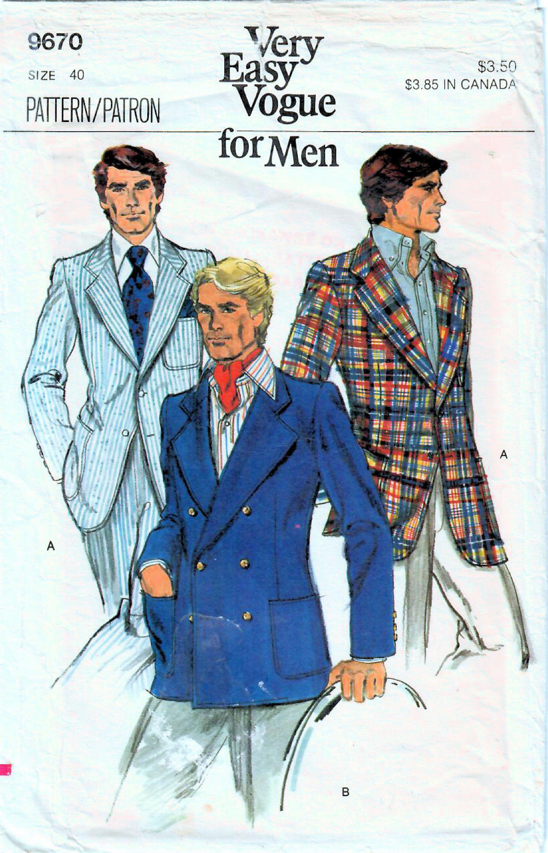 1970s Vogue 9670 Vintage Sewing Pattern Men S Jacket Etsy Mens Jacket Pattern Men S Suits Mens Jackets [ 3000 x 1927 Pixel ]